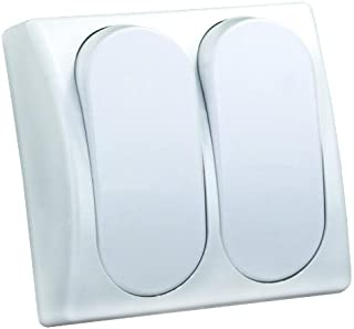 JR Products 13585 Modular On/Off Switch - Double,White