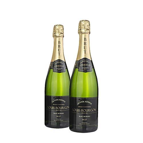 Pack Louis Bourgon Grande Réserve Blanc de Blancs Brut | 2 botellas | 0,75L