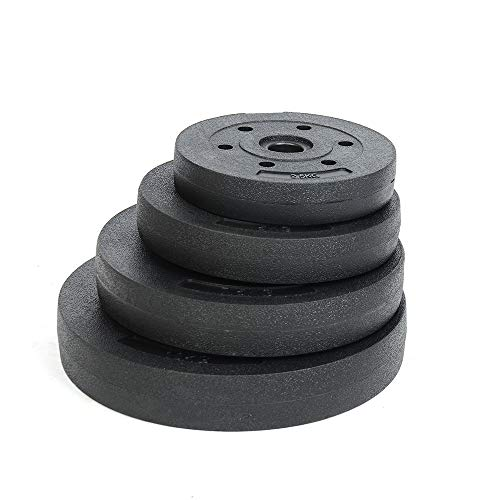 Anysyn Weight Plates Set Strength training Home Gym Fitness Workout 2.5KG 5KG 10KG 15KG for 1' Dumbbell Handle Bar
