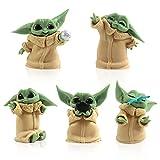BESTZY Mini Figuras Baby Yoda Cake Topper Pastel Decoración Suministros Baby Yoda Juego Figuras Niño...