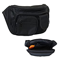 EG BAGS Concealed Carry Pistol Bag - Black Gun Concealment Fanny Pack