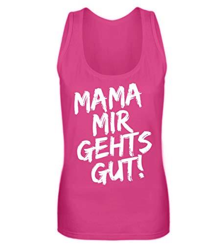 Shirtee Mama Mir gehts gut Malle Ibiza Party Design - Frauen Tanktop -L-Pinky