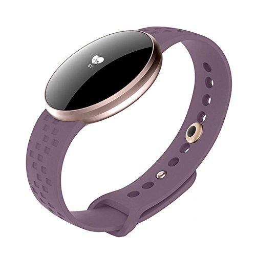 Fitness Tracker, Femmes Smart Watch pour Andriod iPhone avec fréquence Cardiaque Moniteur de Sommeil Podomètre Appareil Photo Télécommande Appel...