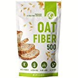 LifeSource Foods Oat Fiber 500 (1 LB) Keto, Zero-Carb, Gluten-Free, All-Natural Fiber for Low-Carb Baking and Bread, OU Kosher, Resealable Pouch