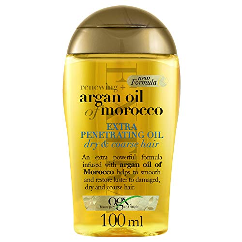 OGX, Olio per capelli a forte penetrazione, Renewing + Argan Oil of Morocco, Extra Penetrating Oil, Capelli Secchi e Ruvidi, 100ml