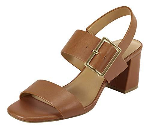 Aerosoles Women's Heeled, Tailored, Sandal, TAN LEATHER, 7.5