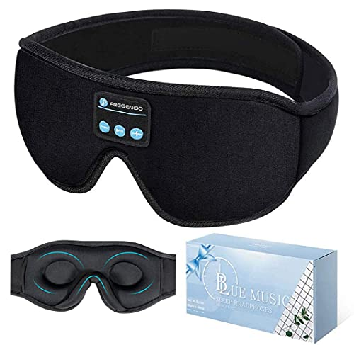 Product Image of the Bluetooth Eye Mask Sleep Headphones, 20-28 Adjustable FREGENBO Music 3D Sleep...