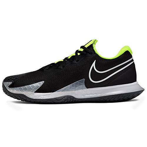 Nike Nikecourt Air Zoom Vapor Cage 4, Tennis Shoe Mens, Negro/Voltio/Gris Humo Oscuro/Blanco, 39 EU