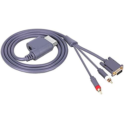 Yuyanshop Cable de vídeo HD AV VGA, conector de audio y vídeo...
