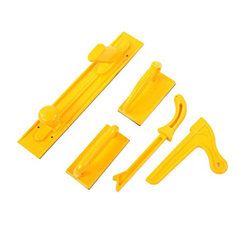 Palo de bloque de empuje, bloque de empuje de seguridad, bloques de empuje y palos para sierras de mesa Paquete de accesorios para sierras de mesa Juego de 5 piezas para sierras de carpintero para ca