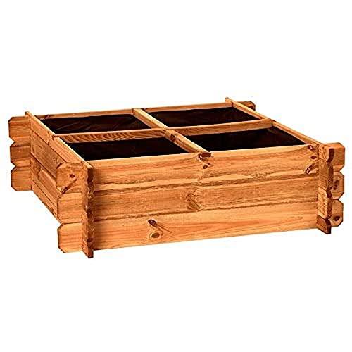 Catral 31090014 - Huerto urbano Seed 80, 30 x 80 x 80 cm, madera de pino