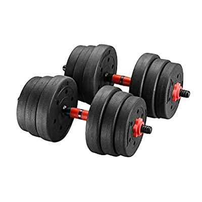 GDY Adjustable 22/33/44/88LBS Exercise Dumbbells Set/Weight Set Strength Training Equipment Barbell for Gym Home Office (55)