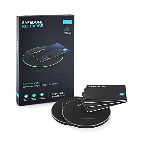 Safedome   Ultra Slim Rechargeable Bluetooth Tracker, Locator Finder Card - with a Lifespan of Over 8 Years, You