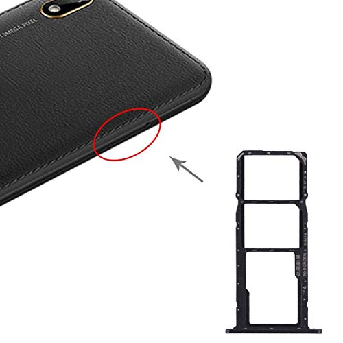 Adaptador Tarjeta SIM La Bandeja de Tarjeta SIM Bandeja de Tarjeta SIM + + Micro SD Card Bandeja for Huawei Y5 (2019) (Negro) (Color : Black)