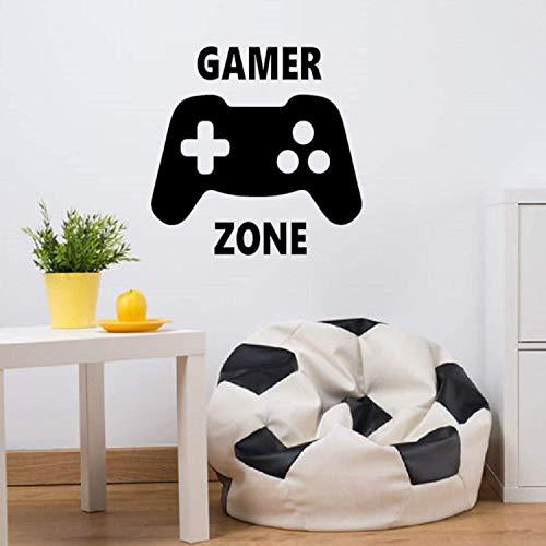 EmmiJules Wandtattoo Gamer Zone - Made in Germany - in verschiedenen Größen - Junge Spielzimmer Playstation XBox Konsole PC Kinderzimmer Wandaufkleber Wandsticker (50cm x 50cm, schwarz)