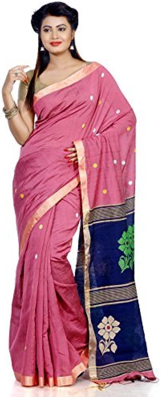 B3Fashion Silk Saree (Ags605_Pink & Navy bluee)