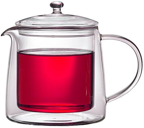 Teekanne 613482 Teekrug Karaffe Tee-Kanne Thermoglas 500 ml doppelwandig Modell Lenny für Heiß- und Kaltgetränke (500ml) - 3