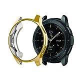 Gehäuse Hülle Displayschutz Kompatibel mit Samsung Galaxy Watch 42mm, Ultra dünn TPU Case Schutz Stoßstange Abdeckung Schutzhülle Schlankes Case Gesundheits und Fitness-Tracker (Gold)