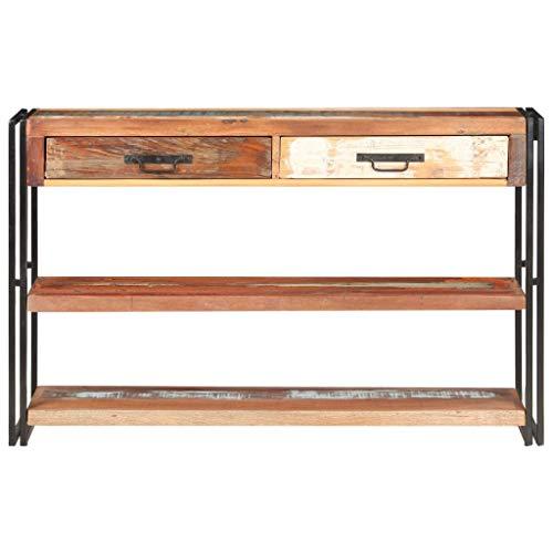 Sideboard für Esszimmer aus Holz aus Recyclingholz, Küchenschrank, Aufbewahrungsschrank, für Wohnzimmer Küche, 120 x 30 x 75 cm