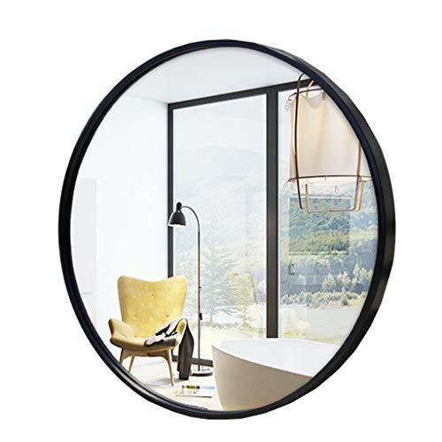 Leuchtend Spiegel Badezimmerspiegel Schwarz Metallrahmen - Home Round Makeup Wandspiegel/Wohnzimmerspiegel, for Schlafzimmer, Laden, Waschtisch Dekoration
