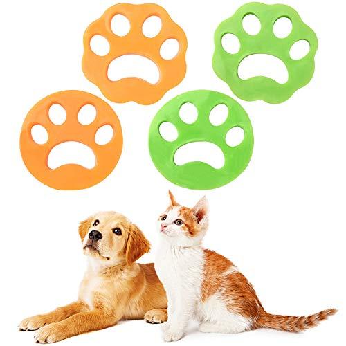 Haustier Haarentferner, Haarfänger Haarentfernung 4PCS Haarentferner Waschmaschine Wiederverwendbarer Tierhaarentferner, Entfernt Fell in Waschmaschine, für Katzenfell, Hundehaar und alle Haustiere