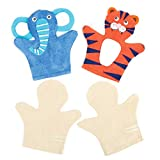 Baker Ross E562 Weiße Handpuppen aus Stoff - zum Basteln und Dekorieren für Kinder - für Puppenspiel - 6 Stück -
