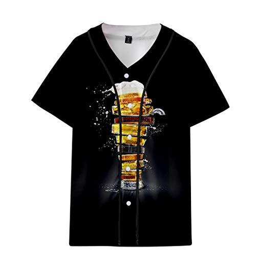 Oktoberfest-Oktoberfest T-Shirt Kurzarm Ärmellos Bier Festival Shirt Brief Hemd gedruckt Muster Casual Fashion Revers Kurzarm Shirt Baseball Tops Bier Oktoberfest Baseballuniform Sale