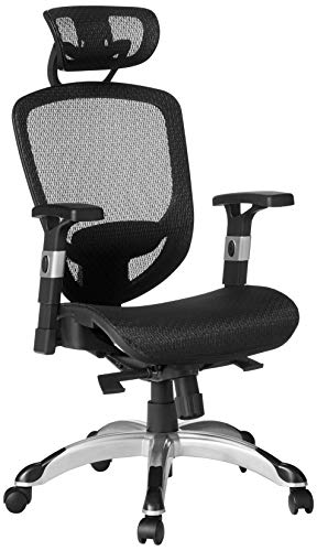 Staples Hyken Technical Mesh Task Chair (Black, Sold as 1 Each) - Adjustable Office Chair with Breathable Mesh Material, Provides Lumbar, arm and Head Support, Perfect Desk Chair for the Modern Office