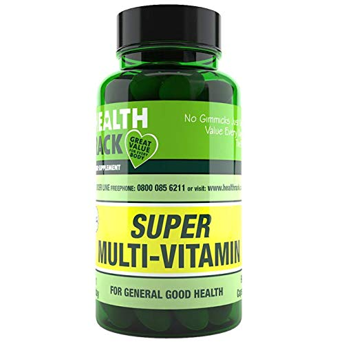 Super Multivitamin Tablets for Women & Men - 90 Tablets - 17 Essential Multi Vitamins for Men & Women Including Vitamin B Complex & Vitamin D3