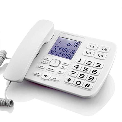 Vast, Draadloze Telefoon Met, Hinder Call Blocker En Digitaal Antwoordapparaat, Vaste Telefoon, Oude Telefoon, Beller, Kantoor Aan Huis, Groot Woord, Groot Scherm (Color : White)