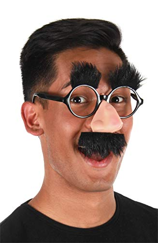 elope Licensed Groucho Marx Costume Nose Glasses with Mustache Black