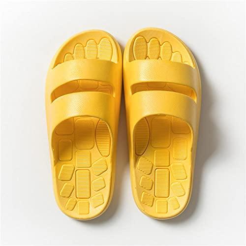 JaMsnc Zapatillas de baño para mujer, zapatillas de residente de pareja, zapatillas antideslizantes de baño amarillo_36-37, sandalias de casa suaves