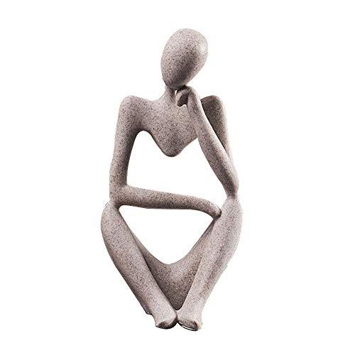 Hosoncovy Harz Denker Statue Denker Skulptur Denker Figur Denker Ornament Denken Männer Ornament Statue Geschenk Skulptur Dekoration für Home Office Bücherregal Schreibtisch Dekor (Linker Denker)