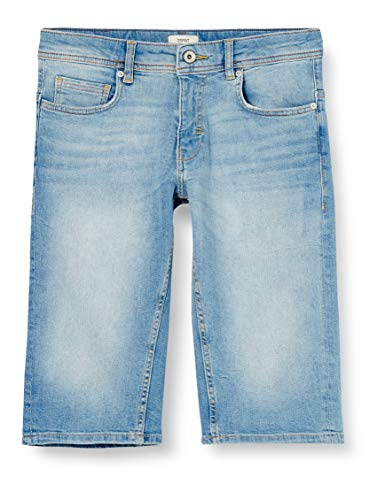 ESPRIT Herren 040EE2C303 Jeans-Shorts, 903/BLUE Light WASH, 34