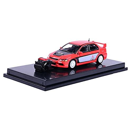 perfeclan Modelo de Coche a Escala 1:64 Fundido a presión con Soporte y Cubierta a Prueba de Polvo Simulación Hobby Display Decoración de Oficina - Rojo