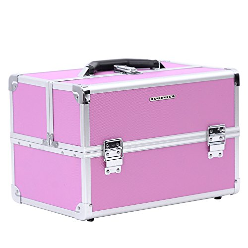 Songmics® Beauty Case Cofanetto Trucco 36,5 x 24 x 24 cm Make Up Bagaglio a mano Valigia Nail Art JBC227