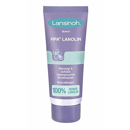 Lansinoh HPA® Lanolin, Brustwarzensalbe, Brustwarzenpflege, BPA/BPS frei, 10 ml Tube