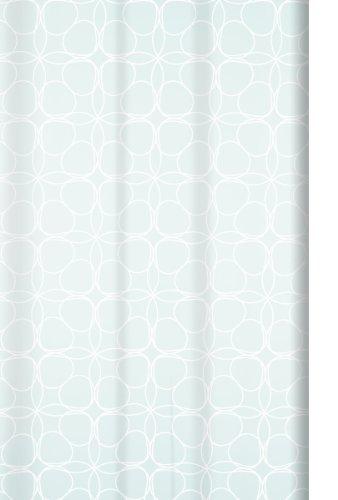 Spirella 10.16333 Textil-Duschvorhang 180 x 200 cm, Filigran White