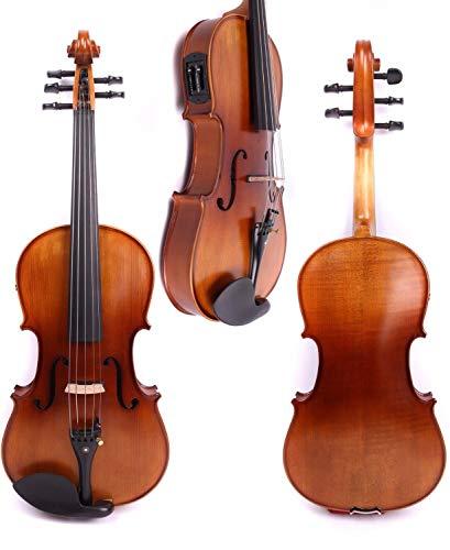 YINGGEXU violín eléctrico 4/4 Nuevo 5 Cuerdas eléctricas eléctricas violín de Madera Maciza Buen Sonido Negro Rojo Azul (Color : As pic5)