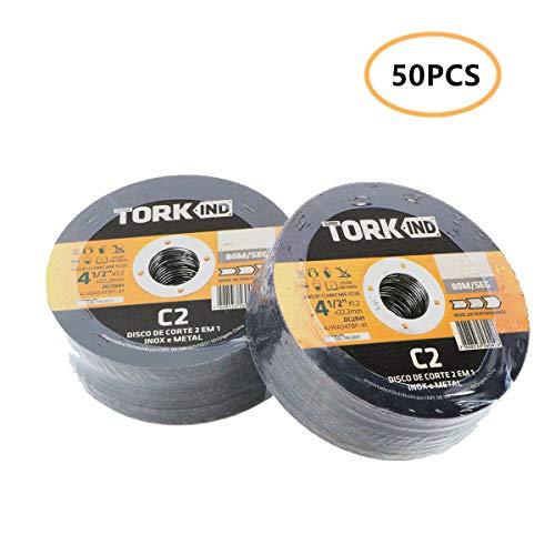 Nisorpa Set 50 Stück Trennscheiben 115 x 1,2 x 22 mm für Trenn- oder Winkelschleifer, Metall Trennscheibe 41/2