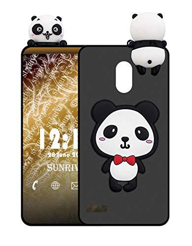 Sunrive Cover per Samsung Galaxy S5, Custodia 3D Case in Molle Matte TPU Silicone Morbida Flessibile AntiGraffio Protettiva Protector Back custodie Bumper(W1 Panda 1)