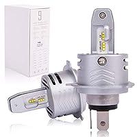 ジムニー JB23W 車検対応 H4 ミニ 12-24v対応 LUMILEDS ZESチップ (第2世代) オールインワン ワンタッチ取付 60W 12000LM LED ヘッドライト HI/LO