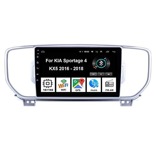 Autoradio Android Stereo 9 Pollici Touch Screen Multimediale Navigatore GPS per KIA Sportage 4 KX5 2016-2018 Collega E USA Mirror Link Bluetooth Vivavoce Controllo del Volante Telecamera Posteriore