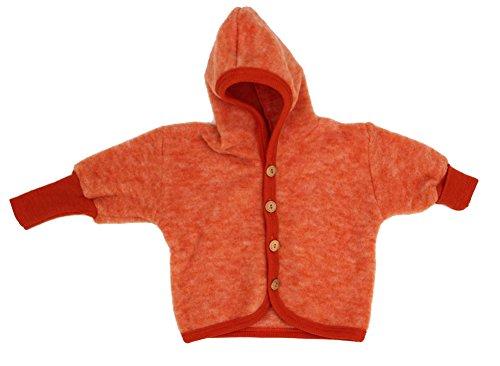 Cosilana Jäckchen mit Kapuze, Größe 74/80, Farbe Safran-Orange malange - Vertrieb nur durch Wollbody®