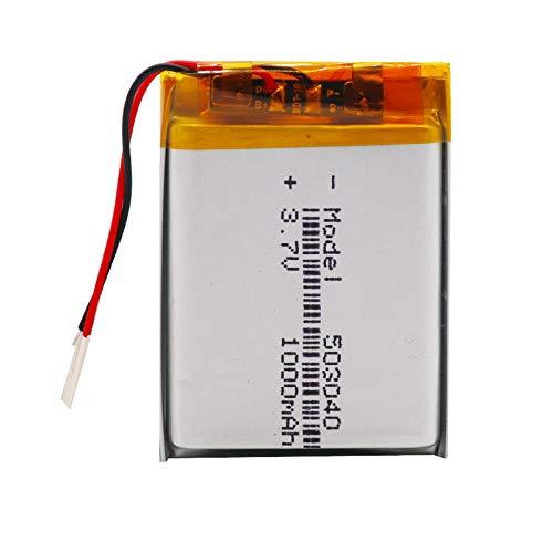 RFGTYH Batería de polímero de Iones de Litio de 1000mAh 503040 para el Libro electrónico del Altavoz de Las Auriculares del Registrador de Voz 1piece
