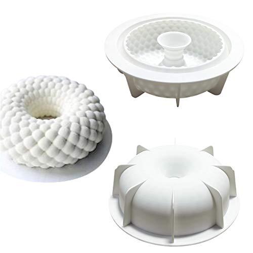 ZOOENIE Neue Shakyamuni Fisch Skala Geformt 3D Silikon Form DIY Runde Kranz Garland Mousse Schokolade Mould Kuchen Dekoration Werkzeuge Backformen (Sakyamuni)