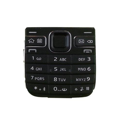 Hongmeish Sustituto de Partes Antiguas o Malas. Reemplazo IPartsBuy móvil Teclado de un teléfono con Botones de menú Vivienda/Prensa Claves for Nokia E52 Accesorios (Color : Black)