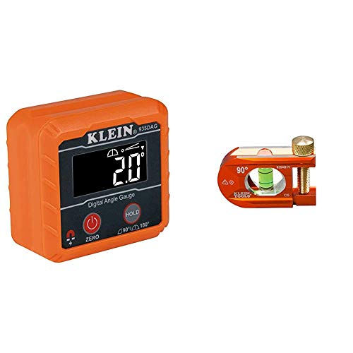 Klein Tools 935DAG Digital Electronic Level and Angle Gauge, Measures 0-90 and 0-180 Degree Ranges, Measures and Sets Angles & 935AB1V ACCU-BEND Level, 1 Vial