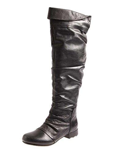 Piu di Servas Stiefel Overknees Damenschuhe Langschaftstiefel Black S4590 EU 37
