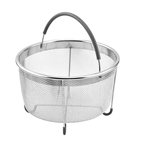 Steamer Basket,Stainless Steel Food Basket with Handle Vegetable Drain Basket Kitchen Tool